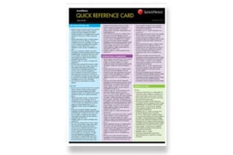 Quick Reference Card - Corporate Social Responsibility