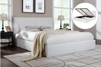Ovela Bed Frame - Florence Gas Lift Collection (White)