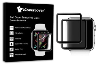 For Apple Watch 38mm 3D Full Screen Tempered Glass Screen Protector iCoverLover
