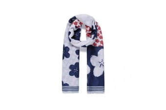 Intrigue Womens/Ladies Patchwork Blossom Print Scarf (Navy) (One size)