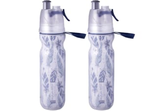 2PK Avanti NV BPA Free 550ml Cold Drink Water Bottle Mist Spray Insulated Sport