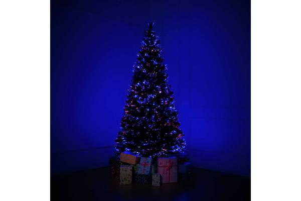 7Ft Fibre Optic LED Xmas Tree - MULTI COLOUR