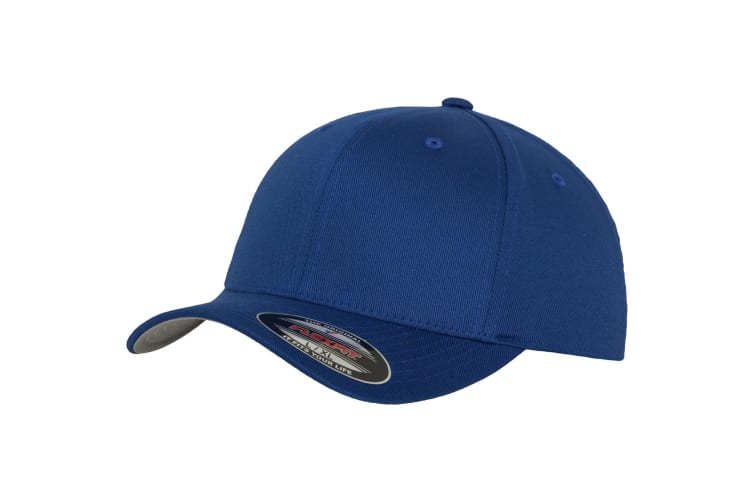 Yupoong Mens Flexfit Fitted Baseball Cap (Pack of 2) (Royal) (LXL)