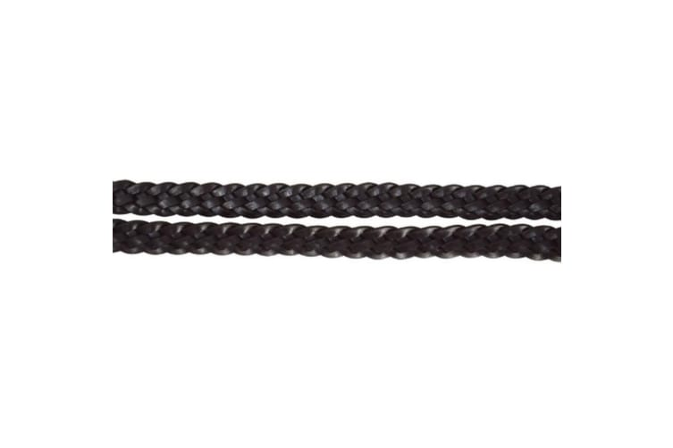 Hy Plaited Horse Leather Reins (Black) (Pony)