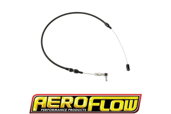 """Aeroflow Throttle Cable Stainless Steel 36"""" Long Black S/S Af 42-1101Blk"""