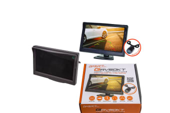 "GATOR 5"" DASH MOUNT LCD COLOUR HI DEF MONITOR & REVERSE REVERSING CAMERA KIT NEW"