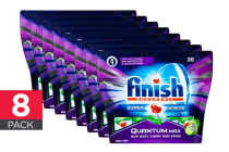 160 Finish Quantum Max Powerball Dishwashing Tablets - Apple Lime Blast (8 x 20 Pack)