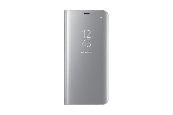 Samsung Galaxy S8 Clear View Stand Cover (Silver)