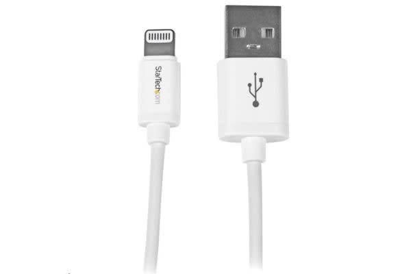 "StarTech 8-pin Lightning to USB Cable - 6"" - White"