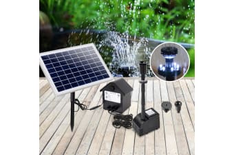 60W Solar Powered Pond Pump Battery Outdoor Fountain Submersible