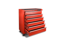 6-Drawer Tool Trolley (Red)