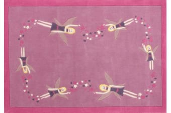 Gorgeous Girls Pink Fairy Rug 165x115cm