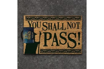Official Lord Of The Rings `You Shall Not Pass` Door Welcome Mat