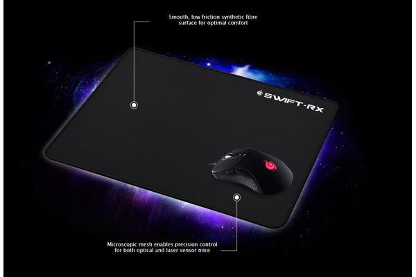 Coolermaster Swift-RX Gaming Mousepad Medium Microscopic mesh, low friction surface, optimal comfort.
