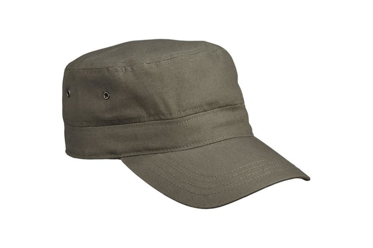 Myrtle Beach Adults Unisex Military Cap (Olive Green) (One Size)