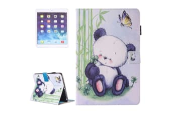For iPad 2018 2017 9.7in Wallet Case Baby Panda Durable Protective Leather Cover