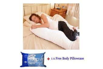 Australian Made Body Pillow With Free Body Pillowcase by Easyrest