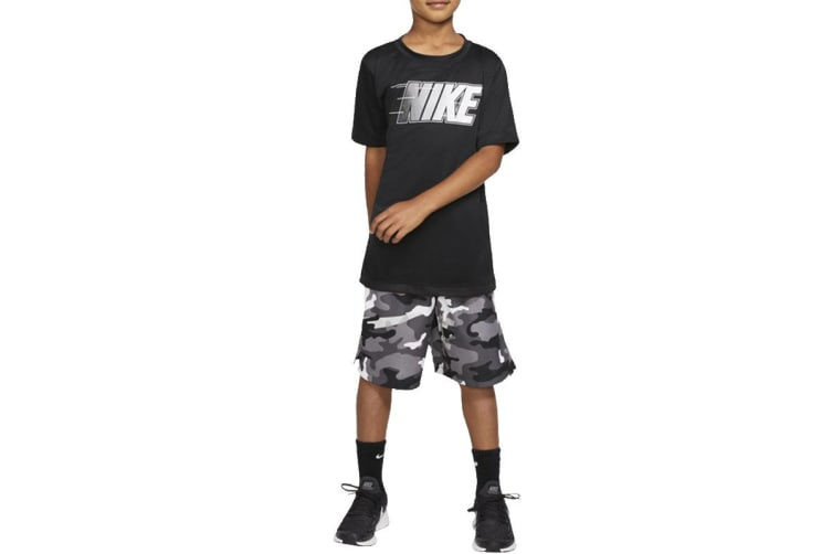 Nike Boys' Trophy Graphics Tees (Black, Size L)