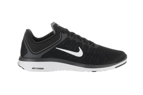 Nike Men's FS Lite Run 4 Running Shoe (Black/White/Anthracite, Size 8)