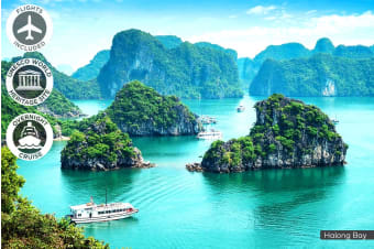 VIETNAM: 12 Day Vivid Vietnam Tour Including Flights for One, Two or Three