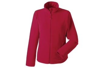 Russell Europe Womens/Ladies Full Zip Fitted Anti-Pill Microfleece Top (Classic Red) (XS)