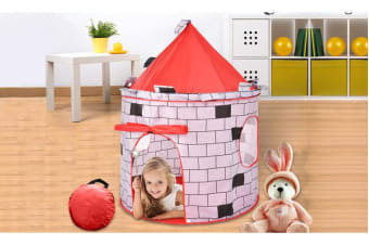 Kids Pop Up Castle Cute Playhouse Children Play Tent Outdoor Indoor Activity Toy