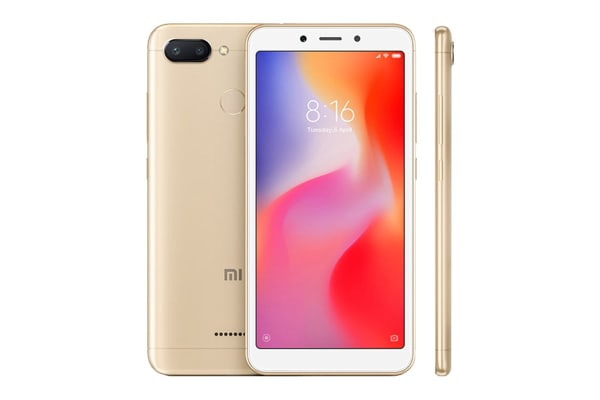 Xiaomi Redmi 6 (64GB, Gold)