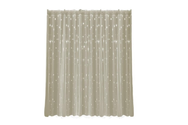 2X Star Blockout Curtain Panels Blackout 2 Layer Eyelet Room Darken Pure Fabric  -  Cannoli Cream140x180cm (WxH)