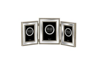 Hill Interiors Champagne Edged Triple Bevelled Mirror Photo Frame (Silver/Gold) (One Size)