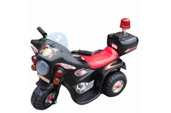Indoor/Outdoor Black 3 wheel Electric Ride On Motorcycle Motor Trike Kid/Toddler