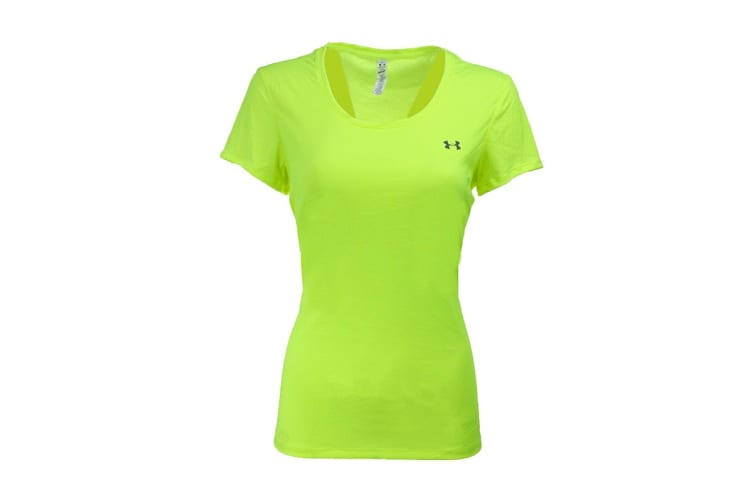 Under Armour Women's UA Flyweight T-Shirt (Hi Vis Yellow/Steel, Size M)