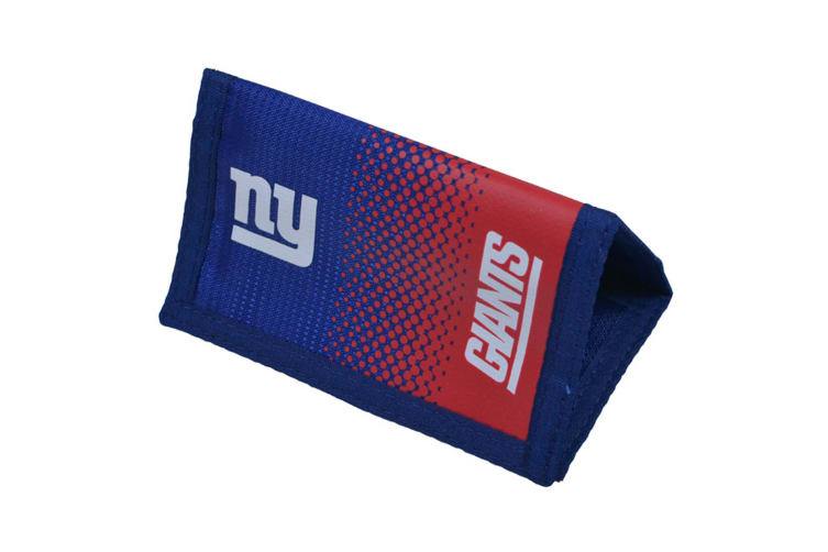 NFL New York Giants Fade Knitted Football Crest Wallet (Blue/Red) (One Size)