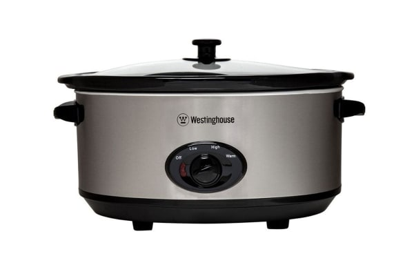 Westinghouse 6.5L Slow Cooker - Stainless Steel