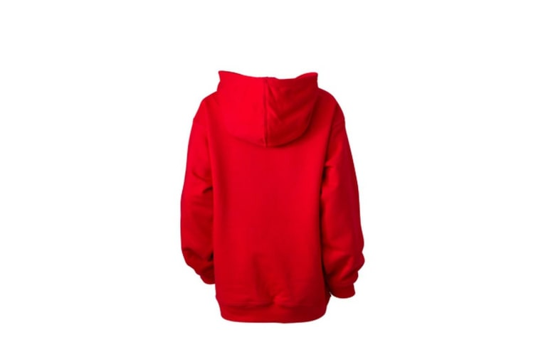 James and Nicholson Childrens/Kids Hooded Sweatshirt (Tomato Red) (S)