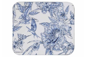 Ashdene Indigo Blue Hummingbird Coaster Set of 4 11cm