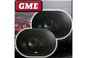 "GME SPK012B 6"" X 9"" FLUSH SPEAKERS PAIR CAR COAXIAL 3 WAY STEREO SYSTEM NEW 6x9"