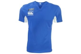 Canterbury Mens Challenge Short Sleeve Rugby Jersey Top (Royal/White)