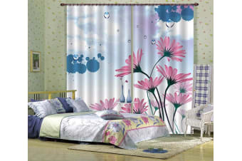3D Flowers Drops 200 Curtains Drapes, 264cmx213cm(WxH) 104''x 83''