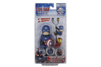 Captain America Limited Edition Civil War Gift Set (Case Of 6) (Multicoloured) (One Size)