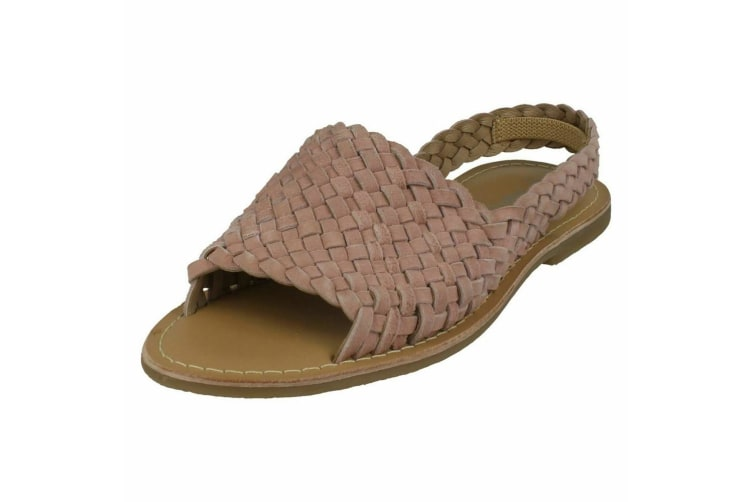 Leather Collection Womens/Ladies Slingback Sandals (Pink) (6 UK)