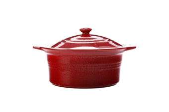 Maxwell & Williams 2.4L Cucina Round Casserole Dish Pot w  Lid Stoneware Red