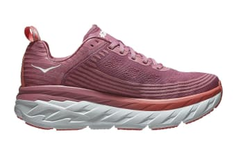 Hoka One One Women's Bondi 6 (Heather Rose/Lantana, Size 8 US)