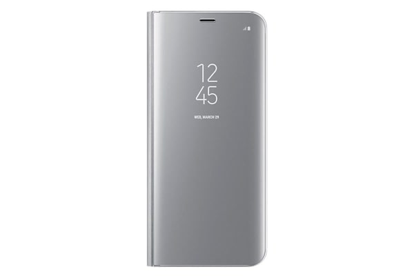 Samsung Galaxy S8+ Clear View Standing Flip Cover/Stand - Silver