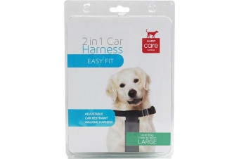 Car & Walking Dog Harness - Large - Up to 30kg - 2 in 1 Harness (Allpet)