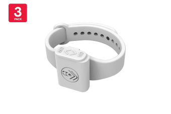 Pestill 3 Pack Electrosonic Mosquito Repeller Bracelets (White)