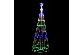 Circling LED Light Christmas Tree with Star [Height: 180cm]