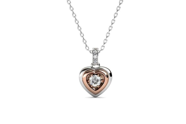 Two Tone Pendant NecklaceEmbellished with Crystals from Swarovski