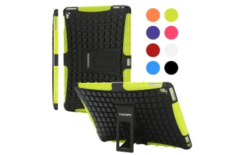 Kids Shockproof Case Heavy Duty Tough Kick Stand Cover For iPad Air 2-Type2-GreenBlack