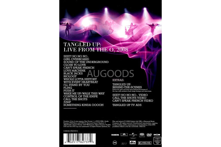 Girls Aloud: Tangled Up Tour 2008 -Music Region All Rare- Aus Stock Preowned DVD: DISC LIKE NEW