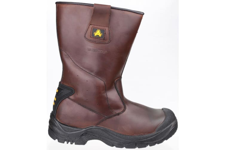 Amblers Safety Mens AS249 Cadair Waterproof Pull On Rigger Boots (Brown) (8 UK)